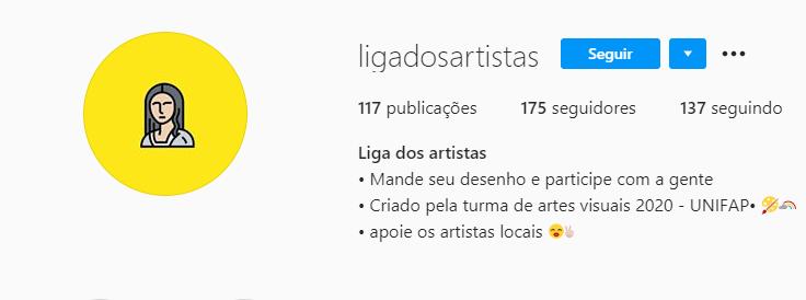 Projeto – Liga dos Artistas