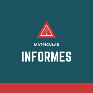 Matrículas – Aviso importante