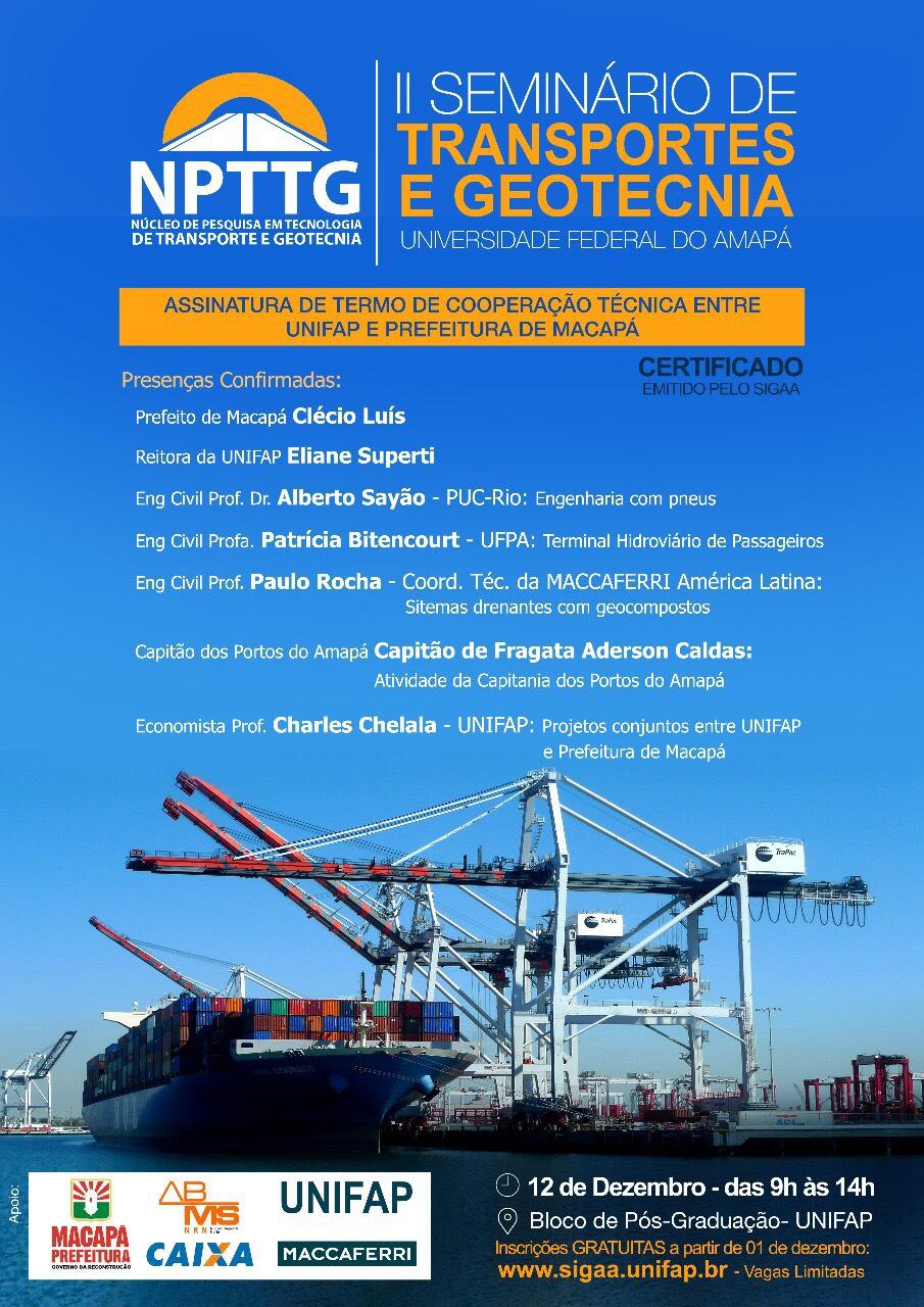 CARTAZ_II Seminário de Transportes e Geotecnia