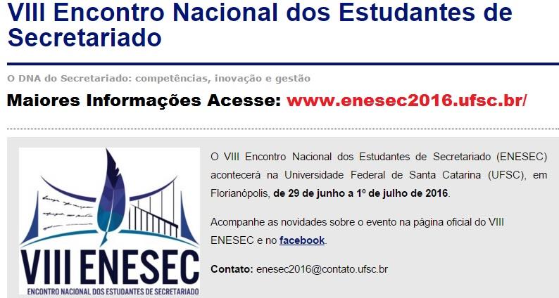 8o_ENESEC_2016_Secretariado_Executivo