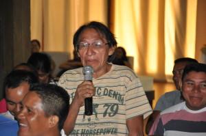 Calbi Amazonas, acadêmico do CLII, participando do Seminário