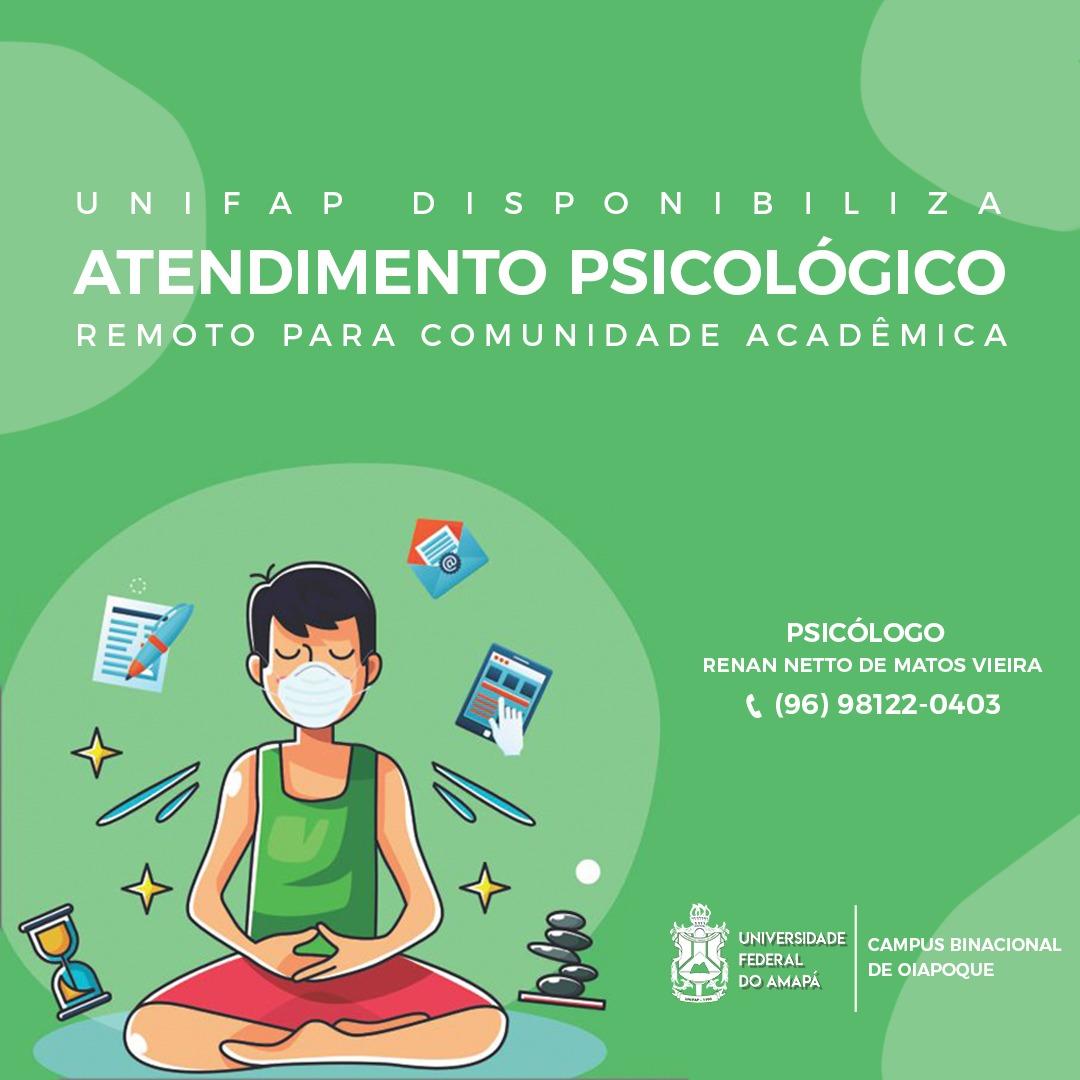 Atendimento Psicológico remoto para comunidade acadêmica do Campus Binacional do Oiapoque