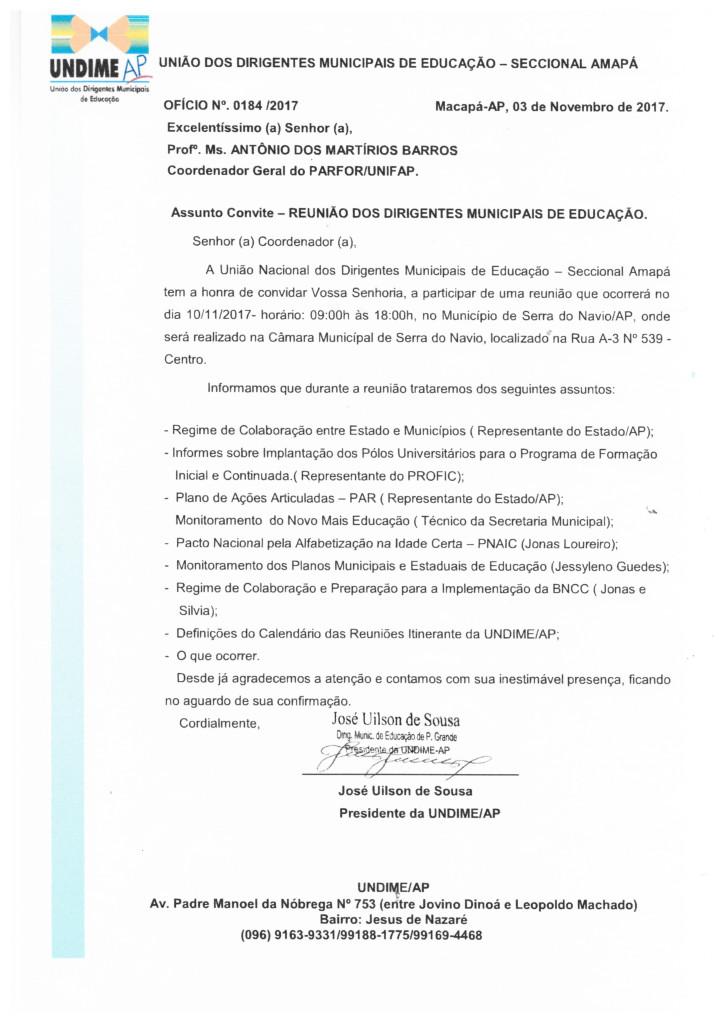 REUNIÃO DOS DIRIGENTES MUNICIPAIS DE EDUCAÇÃO