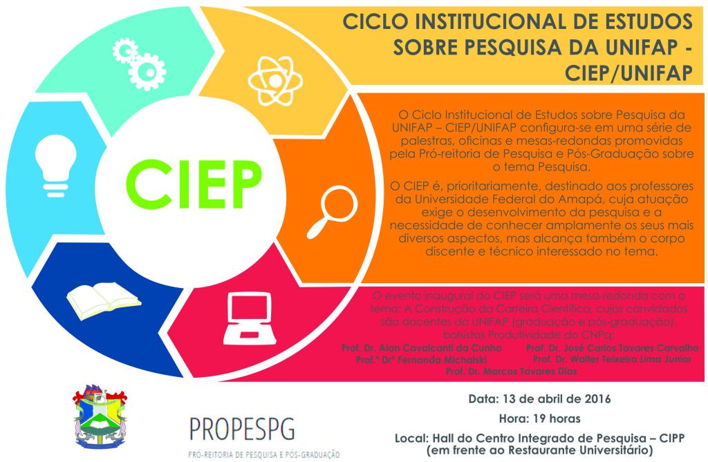 ciclo de palestras CIEP