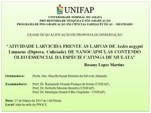 Qualificação - 2015-03-27 - Rosany Lopes Martins