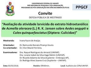 DEFESA DE DISSERTAÇÃO - 2018-03-05 09h00 - INANA FAURO DE ARAÚJO