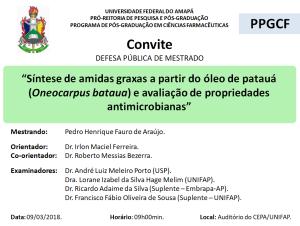 DEFESA DE DISSERTAÇÃO - 2018-03-09 09h00 - PEDRO HENRIQUE FAURO DE ARAÚJO
