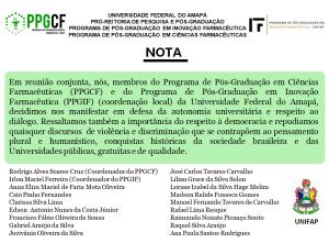 PPGCF E PPGIF - NOTA PUBLICA