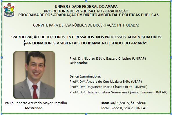 Convite Paulo Roberto