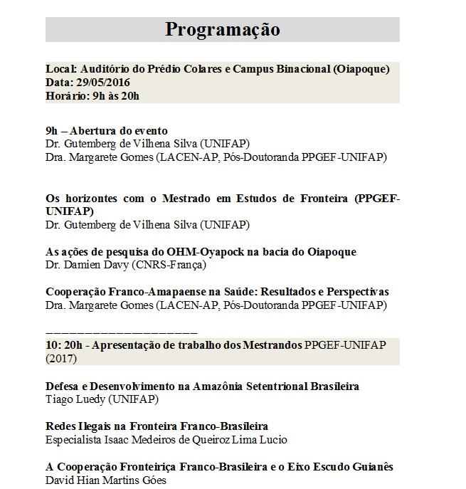 Seminário Internacional em Oiapoque2