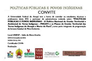 POLÍTICAS PÚBLICAS E POVOS INDÍGENAS - CONVITE