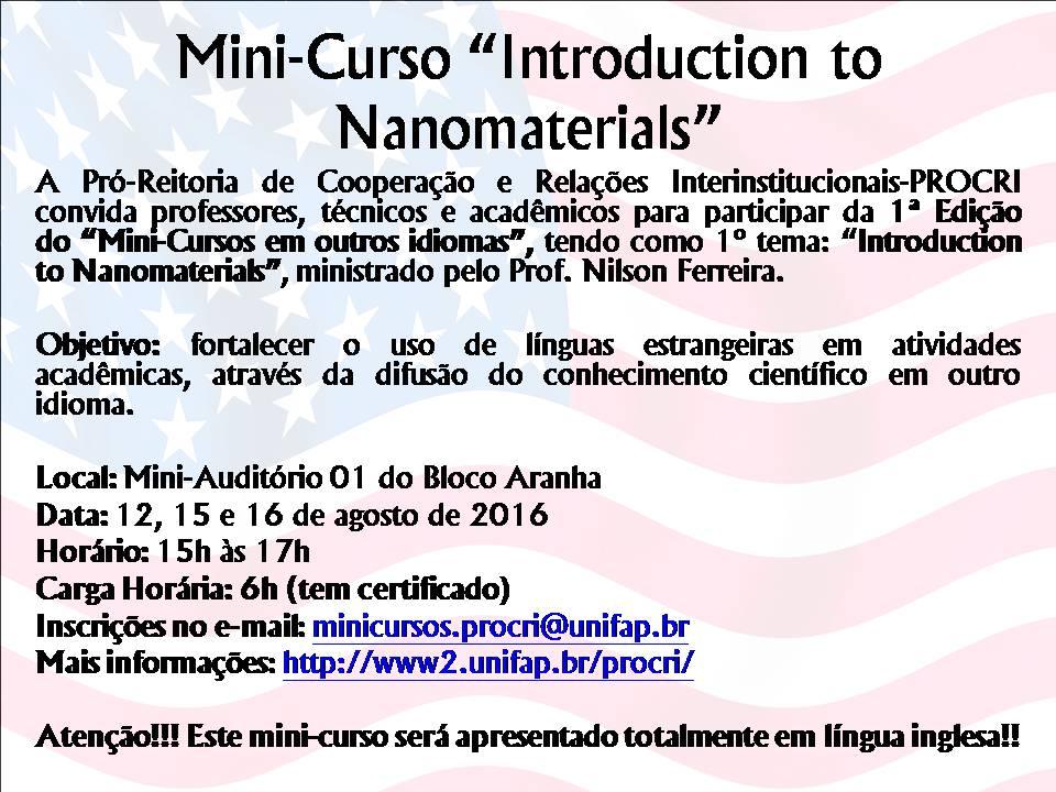 MINI-CURSO NANOMATERIALS