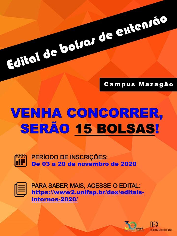 Edital Extensão Mazagão 06/2020