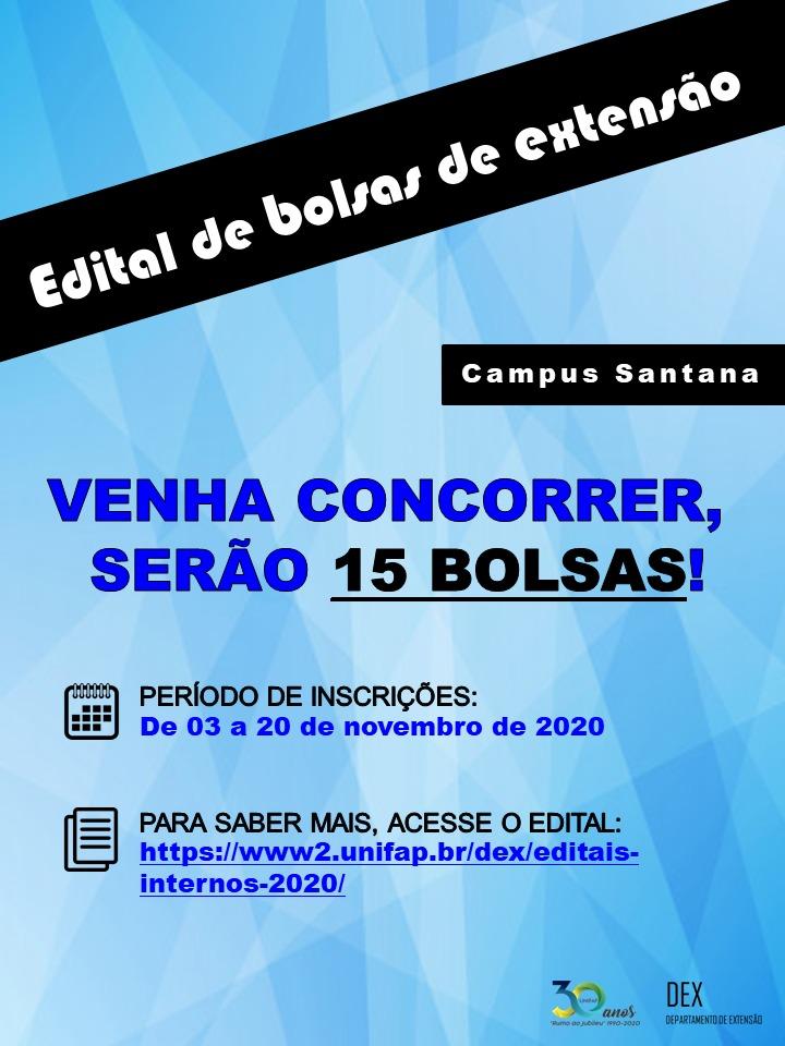 Edital Extensão Santana 05/2020