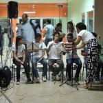 Alunos do curso de extensão de música e flauta doce