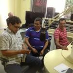 Apresentador Aldenor Santos e convidado Marcelino Alves