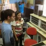 Alunos do IFAP, em visita aos Estúdios da Rádio Universitária