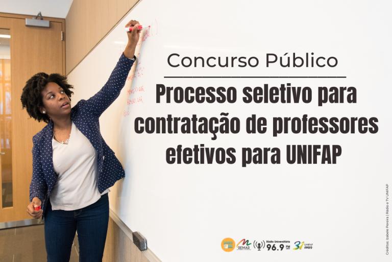 UNIFAP retoma concurso público suspenso por conta da pandemia